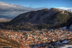 Brasov, at the foot of the Tampa mountain Brasov Romania, Places Ive Been, Landscape Photography, Grand Canyon, Mountains, Nature, Travel, Naturaleza, Viajes