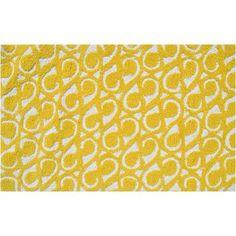 Threadbind Morgan Hand-Hooked Yellow Area Rug Rug Size: 5' x 7'