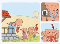 Three Little Piggies FREE eBook App | Online puzzels en denkspellen