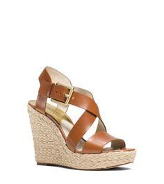 Giovanna Leather Espadrille Wedge Sandal | Michael Kors