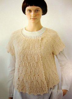 Free Shipping Japanese Crochet Cardigan Top Blouse PDF Pattern - #3464-01