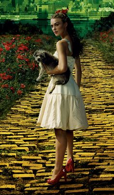 Photographer Annie Leibovitz / The Wizard of Oz / Keira Knightley as Dorothy / 2005 Vogue Magazine