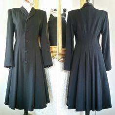 Vintage retro tredelad dress kjol, dräktjacka top ljusblå