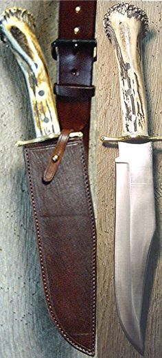 The Sacketts Bowie Knife & Sheath / The Quick & the Dead Bowie &… Swiss Army Pocket Knife, Best Pocket Knife, Tactical Pocket Knife, Tactical Knives, Cool Knives, Knives And Swords, Cowboy Holsters, Knife Stand, Engraved Pocket Knives