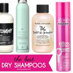 We reviewed 10 of the top name dry shampoos. Check out which work best. #divinecaroline #dryshampoo #hair