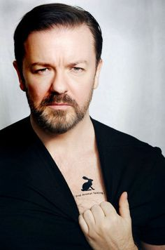 Ricky Gervais. Rabbit Tattoo. End animal testing