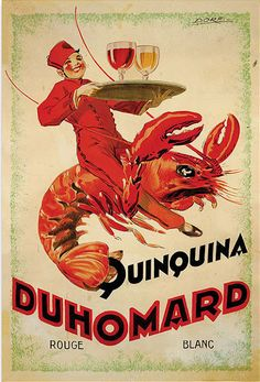Trademark Fine Art 'Quinquina Duhomard' by Dorti-Albert Dorfinant Framed Vintage Advertisement on Wrapped Canvas Size: H x W x D Vintage Advertisements, Vintage Ads, French Vintage, Vintage Posters, Vintage Food, Vintage Trends, Vintage Wine, Vintage Labels, Creative Advertising