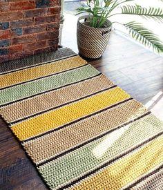 17 ideas for crochet braids pattern hooks Crochet Braid Pattern, Crochet Mat, Crochet Carpet, Crochet Rug Patterns, Braid Patterns, Crochet Motifs, Crochet Poncho, Crochet Home, Crochet Braids