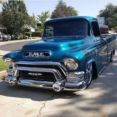 """16.2k Likes, 55 Comments - Modern Day Hot Rods (@moderndayhotrods) on Instagram: """"This '56 GMC is  Such a cool truck owned by @merrillslim #GMC #1956 #moderndayhotrods"""" #classictrucks"""