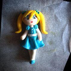 Ciondolo Bambolina   Dolly Pendant #fimolorysworld #fimo #polymerclay #clay  #handmade #