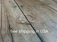 sterling silver infinity ring stacking FREE by FoxCFashion on Etsy, $8.00