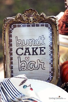 Decorate Your Own Bundt Cake Bar