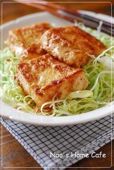 豆腐のマヨ生姜焼き♡ Tofu ginger sauce