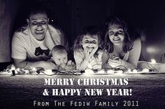 Family Christmas card idea. Love the lights! {Happy Together}