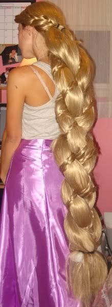 Cosplay.com - View Single Post - The Rapunzel Wig Thread!! :) || Jeez! I'd almost rather grow my own hair out to a believable length for the braid, like mid-back or something. But in my cosplaying dreams, i could afford this :)