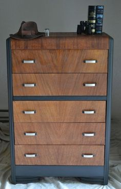A beautiful waterfall dresser in the Art Deco Style