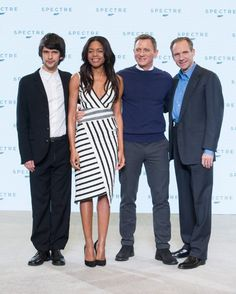 Ralph Fiennes, Daniel Craig, Naomie Harris and Ben Whishaw at event of Spectre (2015)