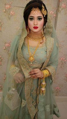 Muslimah Wedding Dress, Pakistani Wedding Outfits, Pakistani Bridal Dresses, Bridal Outfits, Bridal Hijab, Bridal Dress Design, Bridal Style, Pakistani Bridal Makeup Hairstyles, Bridal Makeup Images