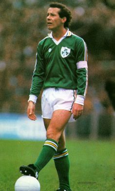 Liam Brady - Ireland's most gifted midfielder, seen here in the 1980s.