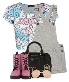 """Lucky"" by f0rever-d ❤ liked on Polyvore featuring Forever 21, MICHAEL Michael Kors, Dr. Martens, Henri Bendel and Linda Farrow"