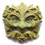 baroque green man wall plaque