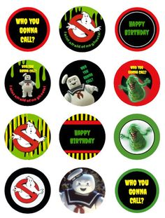 Ghostbusters Birthday Party, Ghostbusters Theme, Class Birthdays, Free Phone Wallpaper, Ghost Busters, Acrylic Box, Acrylic Nails, Printable Labels, Favor Tags