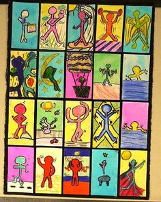 Keith Haring, students pick a favorite activity they like to do