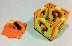 3D ? Super Mario Cube perler  beads by Flames2Earth