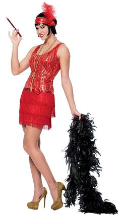 Broadway Flapper Costume - Large - Dress Size 12-14
