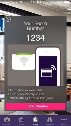Forgot your hotel room key? Use your iPhone instead