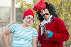 Captain Hook and Smee costume Couple Halloween costume