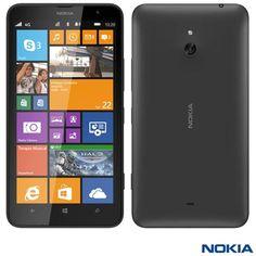 Smartphone Nokia Lumia 1320 com Tela de 6 LCD IPS, Cmera de 5 MP, Memria Interna de 8 GB, 4G e Wi-Fi Preto #smartphonenokia