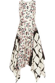 Suno Printed silk dress | THE OUTNET