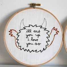 Set of two Where the Wild Things Are hand by makingjiggy on Etsy