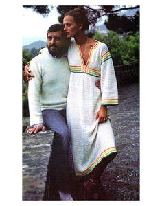 Vintage 1970s Crochet Pattern Caftan Cover Up Boho Maxi Dress Digital Download PDF