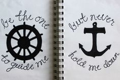 Be the one to guide me...but never hold me down