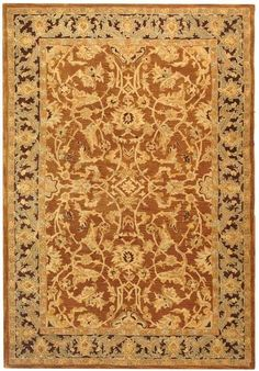 Traditional Area Rug Rectangle Rust Brown Color Safavieh Anatolia Collection