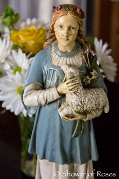 Shower of Roses: {pretty, happy, funny, real} Sacred Groves, St Agnes, Contentment, Imagination, Catholic, Charlotte, Princess Zelda, Illustrations, Statue