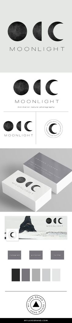 Moonlight Photographer Premade Brand Launch (sold only once) | MY LUXE BRAND - Brand Design Shop | logo design, brand design, branding, premade brand, premade logo