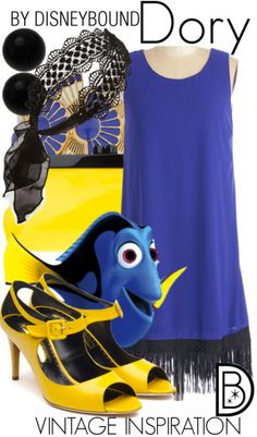 Disney Bound: Vintage Inspiration- Dory (Finding Nemo)