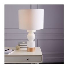 Scandinavian Glass Table Lamp Medium ($199) via Polyvore featuring home, lighting, table lamps, white lights, white glass lamp, scandinavian lighting, glass lighting and glass lamps