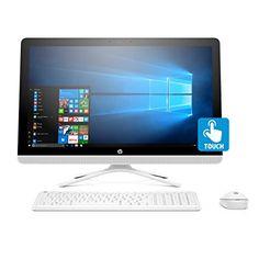 HP 23-inch All-in-One Computer, Intel Core i3-7100U, 4GB RAM, 1TB hard drive, Windows 10 (24-g230, White)