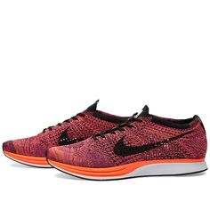 Nike Flyknit Racer (Black & Hyper Orange)