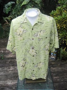 Hawaiian ALOHA shirt L pit to pit 25 TOMMY BAHAMA silk green tropical floral | Clothing, Shoes & Accessories, Men's Clothing, Casual Shirts | eBay!