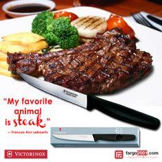"""""""My favorite animal is Steak"""" Dapatkan koleksi pisau dan perlengkapan dapur terbaru dan esklusif hanya di fargo2001.com. http://fargo2001.com/housewares-315/kitchenwares-105"""