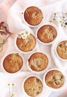 Saftiga Rabarbermuffins   Fridas Bakblogg Nutella, Grandma Cookies, Little Bunny Foo Foo, Three Little Pigs, Cookie Box, Bread Cake, Fika, Mellow Yellow, Food And Drink