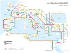 Wat als de Romeinen in plaats wegen direct metrolijnen hadden aangelegd? Dan krijg je zoiets als dit kaartje van Sasha Trubetskoy.