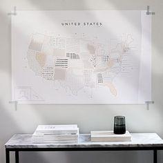 42 Pressed Roam Map - United States | west elm