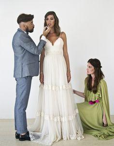 Vestidos de novia e invita de Boüret. Boda griega