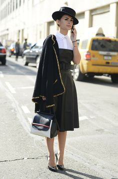 Miroslava Duma - Shirt under cocktail dress http://www.hiphunters.com/